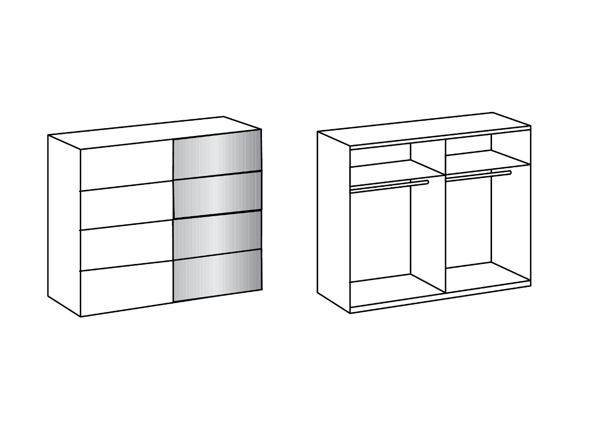 elliot schwebet renschrank 225 cm weiss. Black Bedroom Furniture Sets. Home Design Ideas