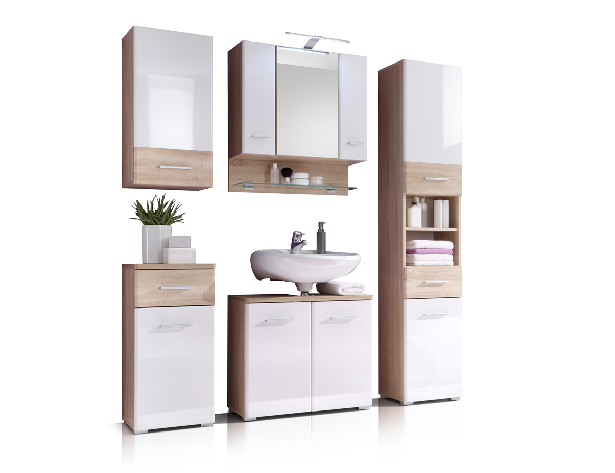 boralo badezimmer set wei sonoma. Black Bedroom Furniture Sets. Home Design Ideas