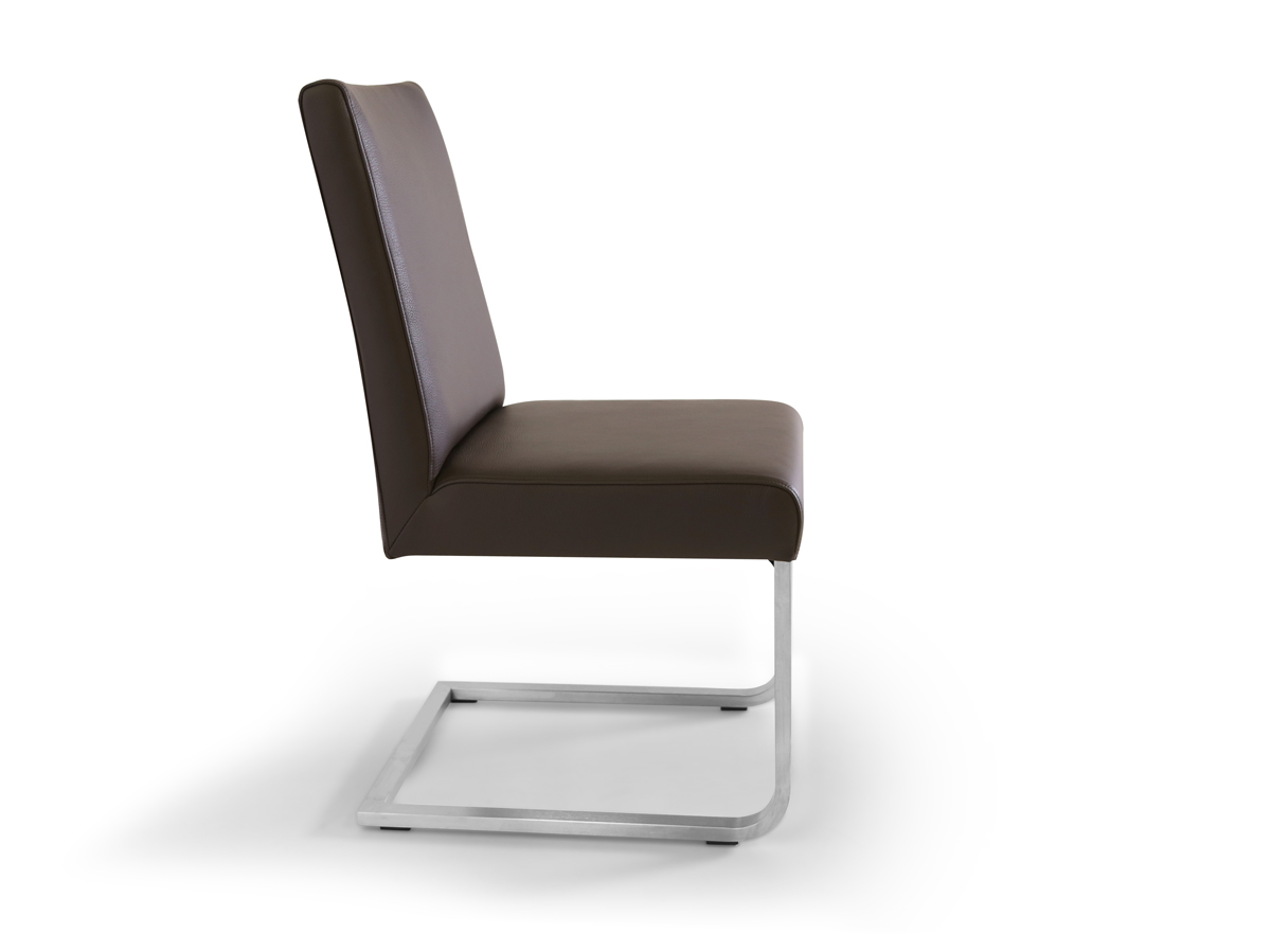 bea echtleder esstischstuhl freischwinger braun. Black Bedroom Furniture Sets. Home Design Ideas