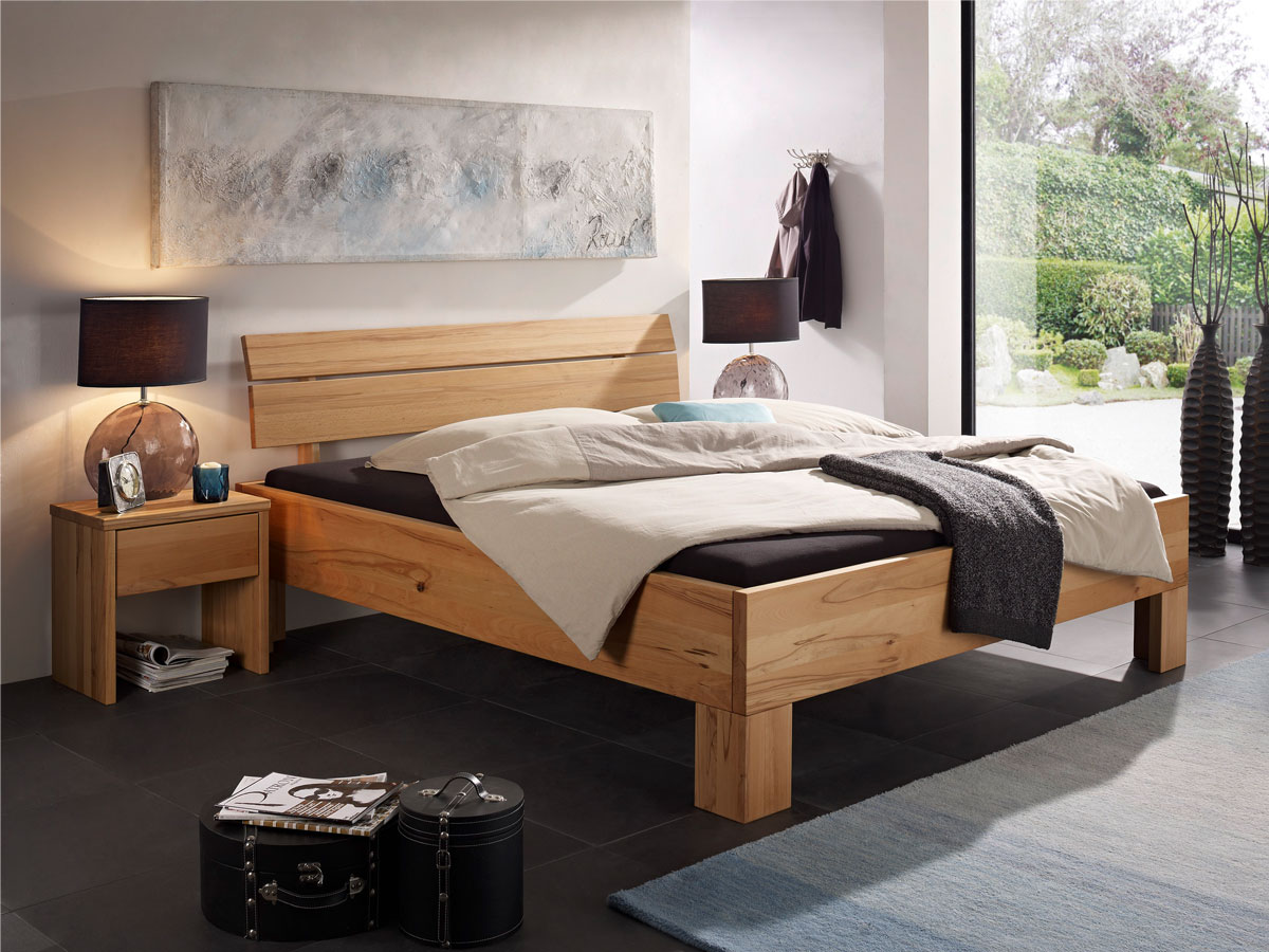 oskar ii massivholzbett 180x200 cm kernbuche. Black Bedroom Furniture Sets. Home Design Ideas