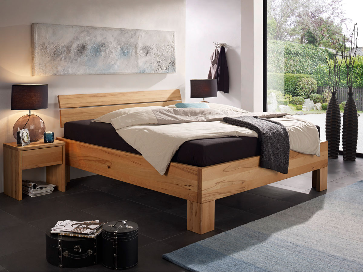 oskar nachtkommode mit 1 schubkasten kernbuche. Black Bedroom Furniture Sets. Home Design Ideas