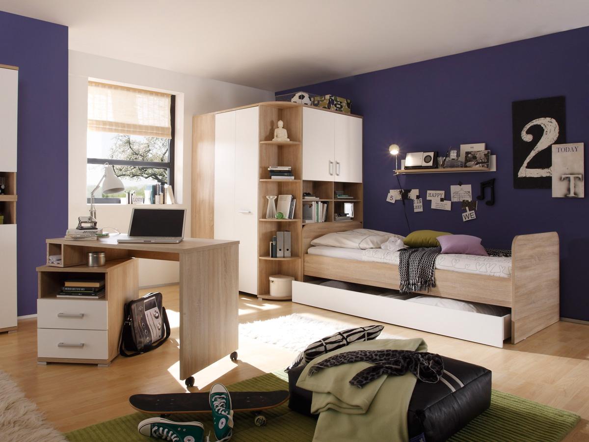 cassian wandpaneel eiche sonoma wei. Black Bedroom Furniture Sets. Home Design Ideas