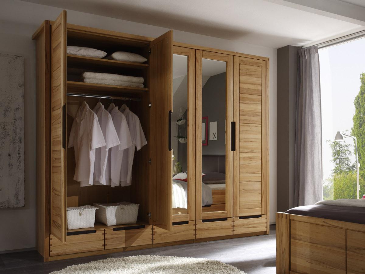 Schlafzimmer schrank massiv: cm kleiderschrank eiche massiv ...