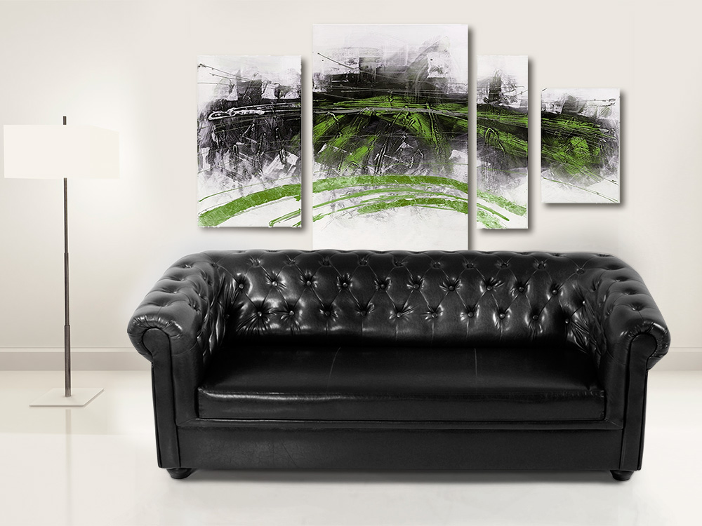Chesterfield 3er sofa polstersofa antikschwarz Chesterfield sofa schwarz