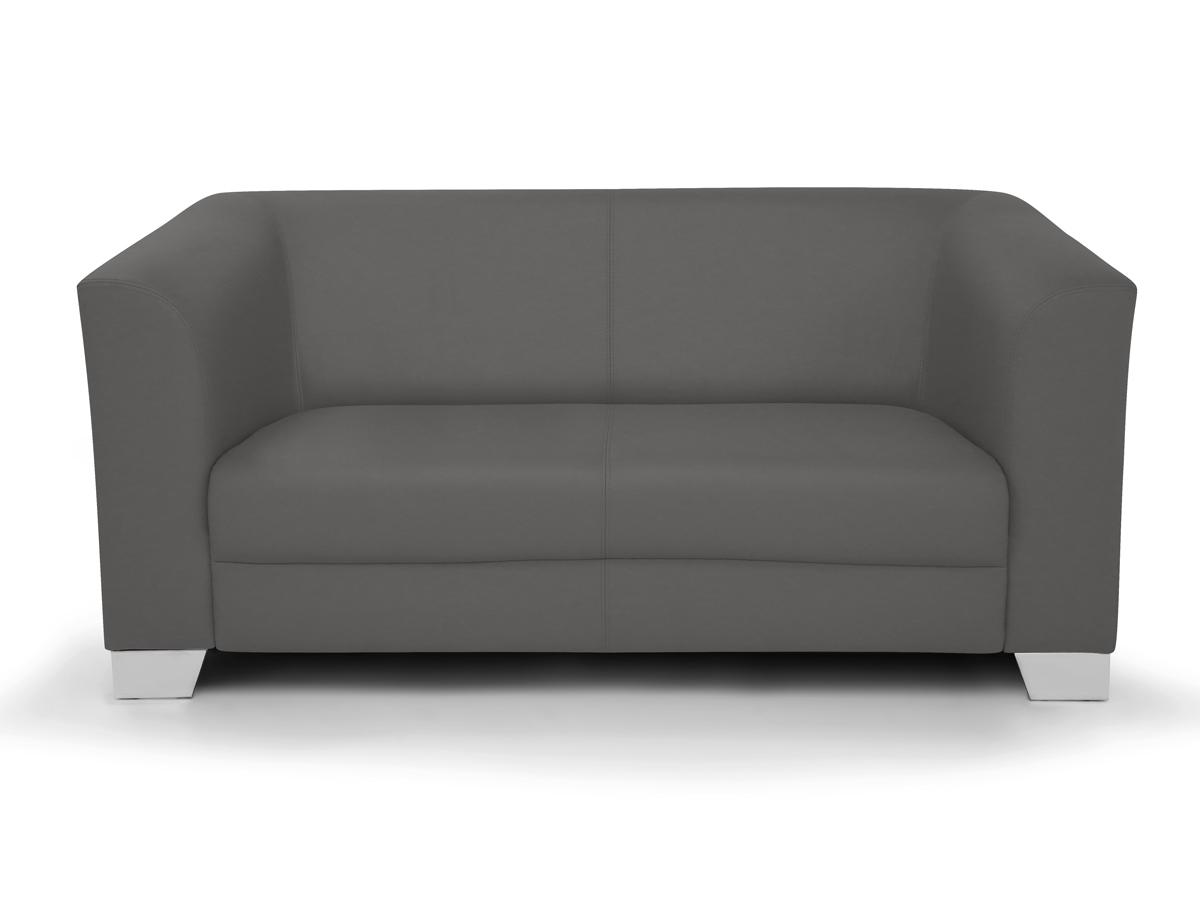 chicago 2 sitzer sofa ledersofa grau. Black Bedroom Furniture Sets. Home Design Ideas