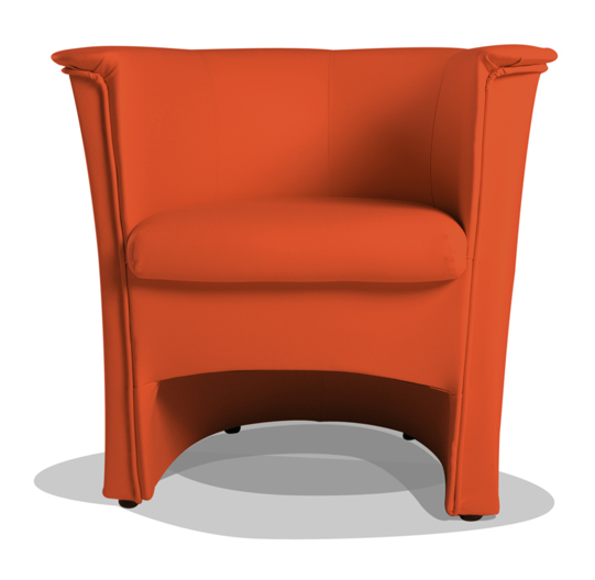 cocky kunstleder sessel clubsessel orange. Black Bedroom Furniture Sets. Home Design Ideas