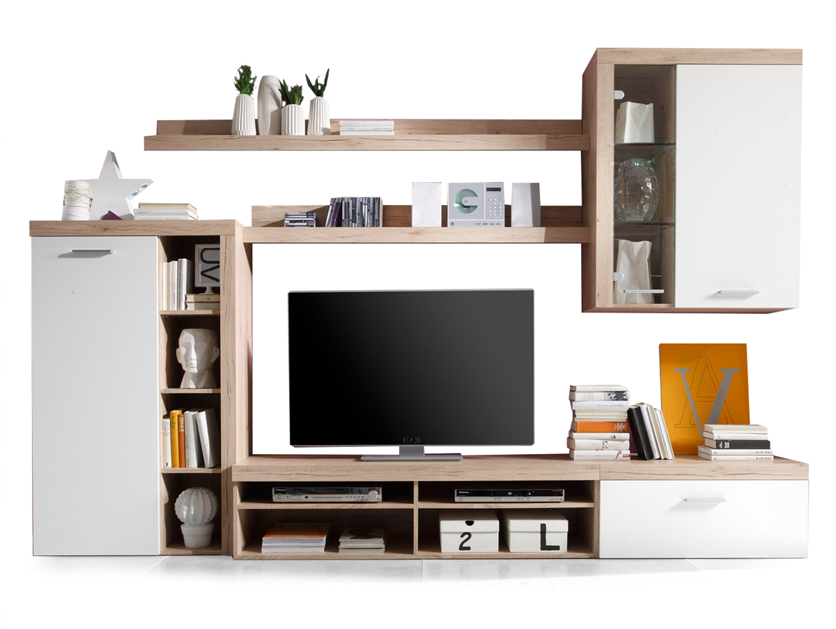 coco wohnwand san remo hell wei. Black Bedroom Furniture Sets. Home Design Ideas