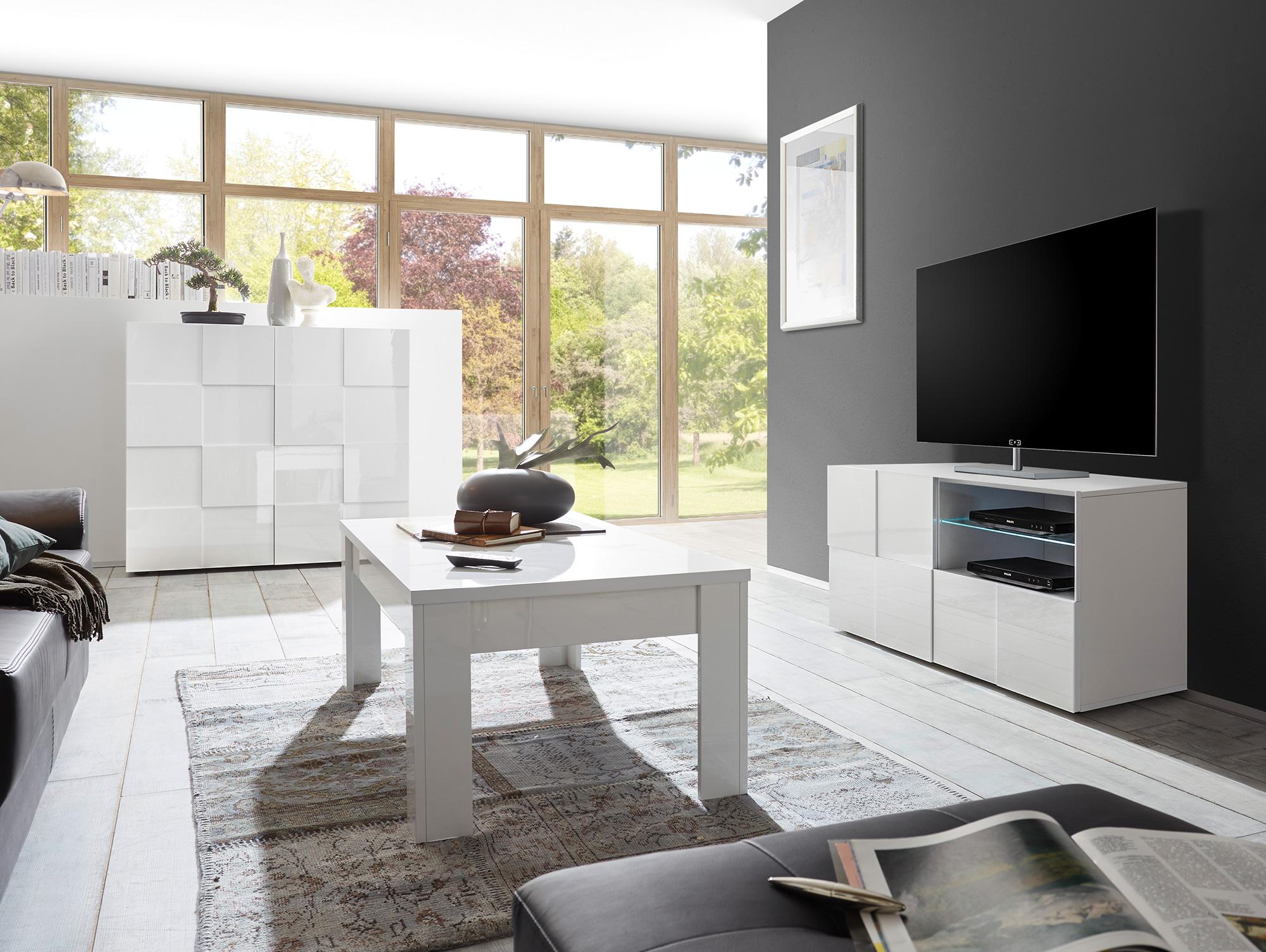 damiro tv element weiss 121 cm. Black Bedroom Furniture Sets. Home Design Ideas