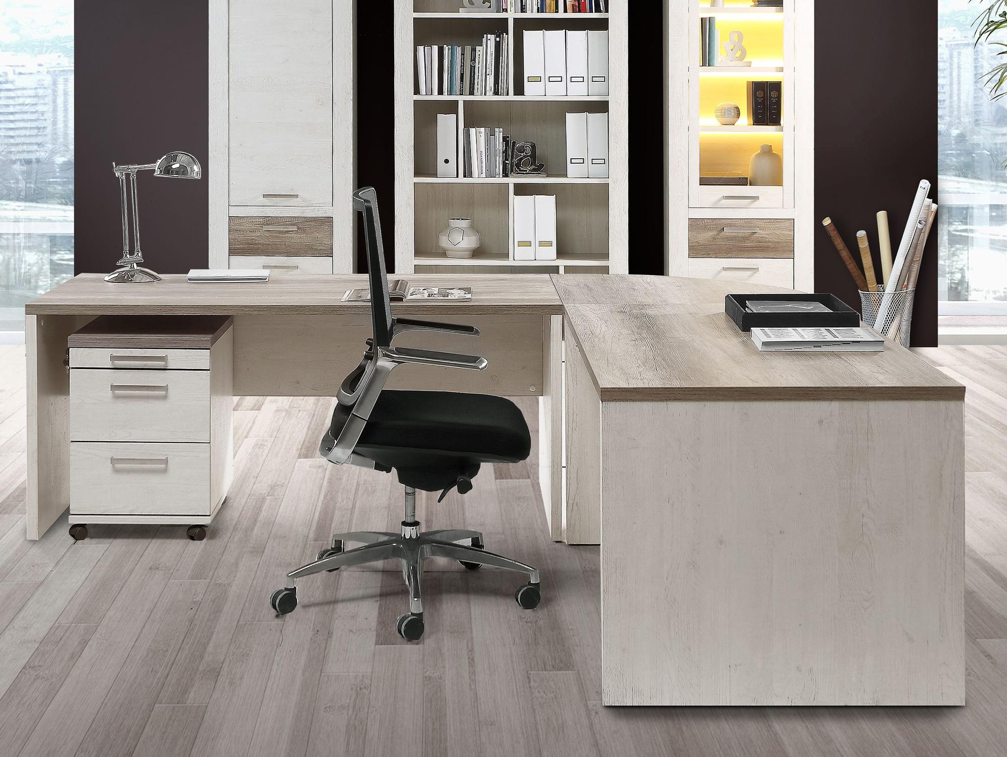 Gewaltig Schreibtisch Weiß Groß Sammlung Von Dagur Pinie Weiß/eiche Antik