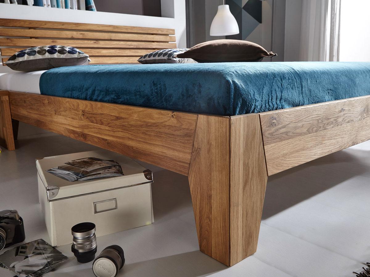 bahama massivholzbett ge lt wildeiche 100x200 cm 45 cm. Black Bedroom Furniture Sets. Home Design Ideas