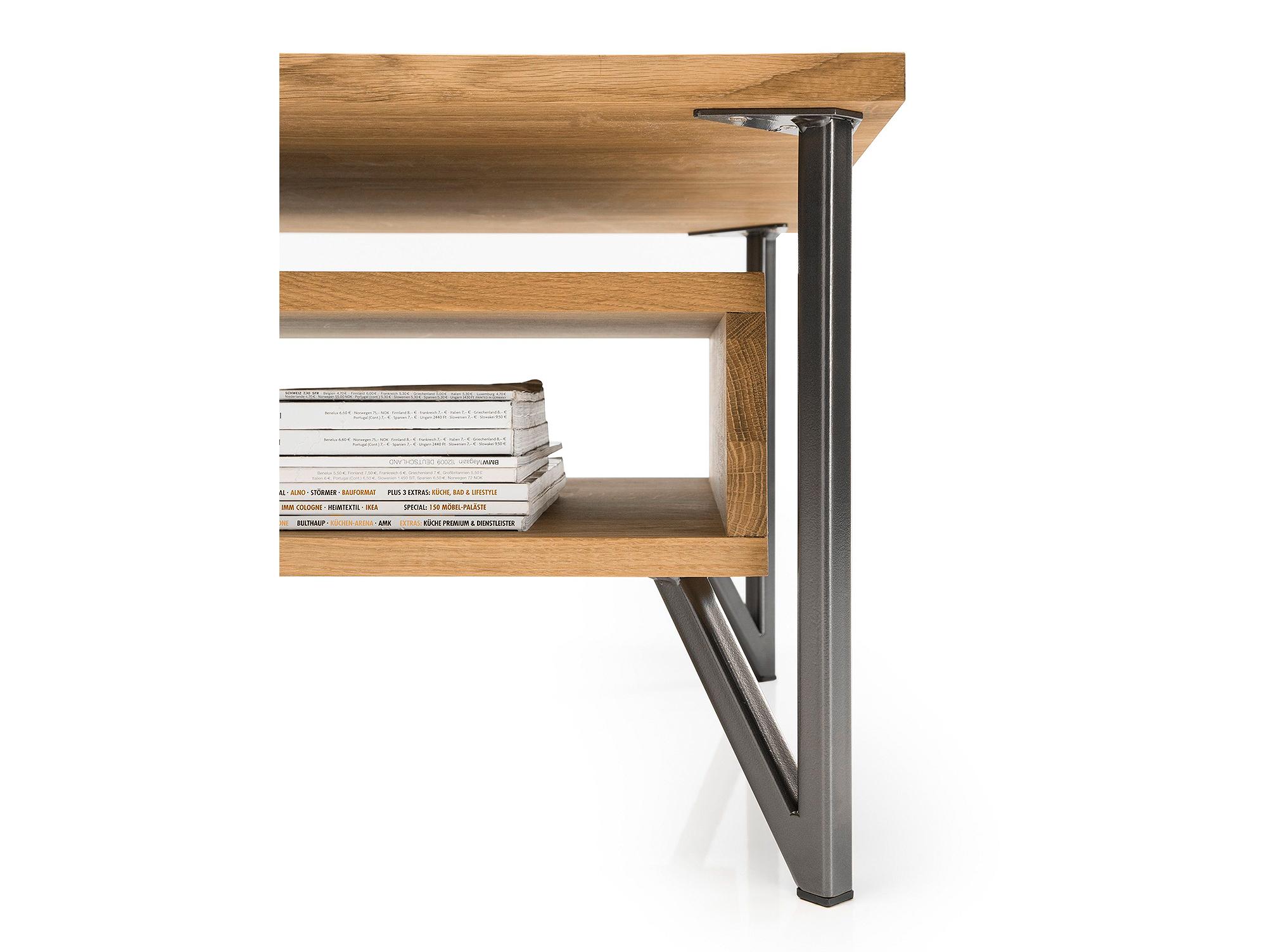 evelin couchtisch eiche ge lt. Black Bedroom Furniture Sets. Home Design Ideas