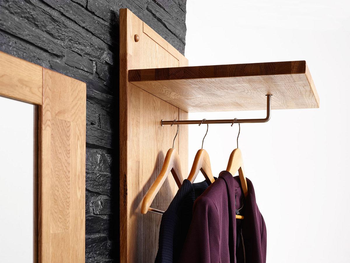 rusty garderobenpaneel mit ablage eiche ge lt. Black Bedroom Furniture Sets. Home Design Ideas