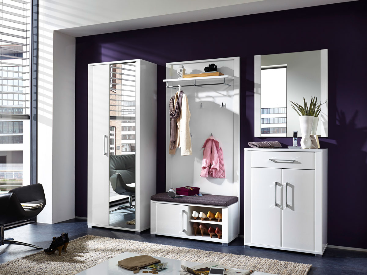 grande garderobenpaneel wei hochglanz. Black Bedroom Furniture Sets. Home Design Ideas