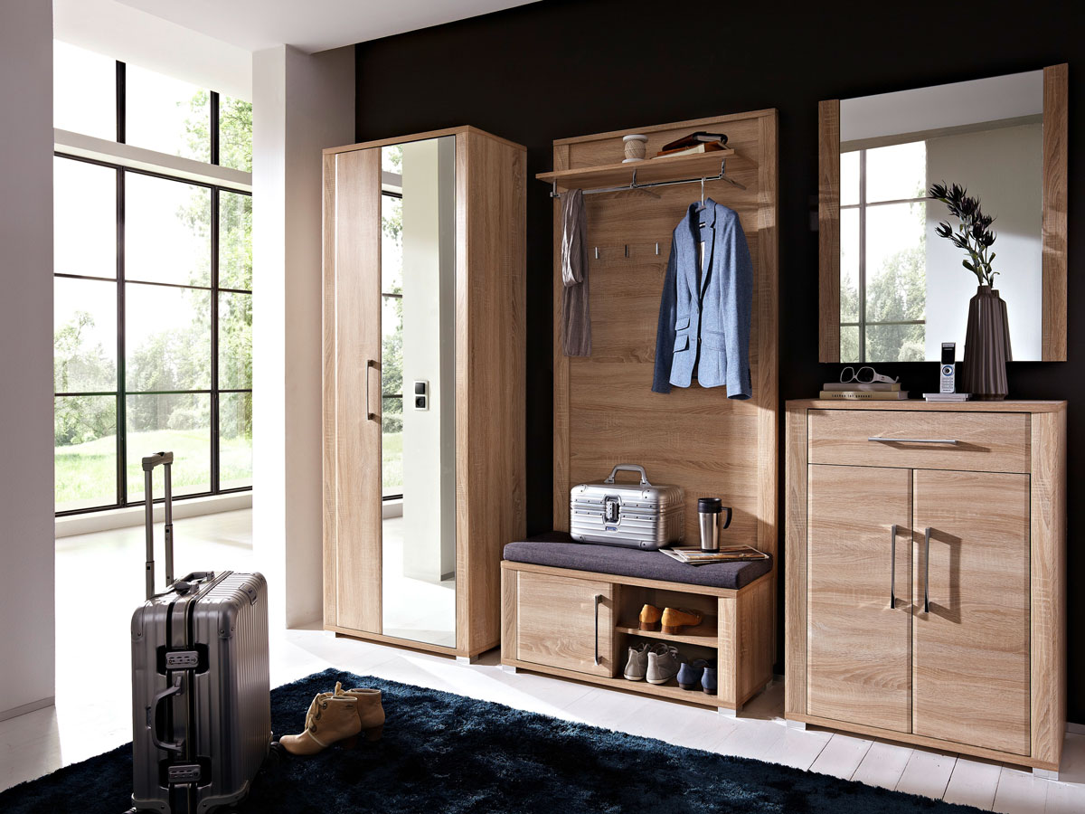 grande garderobenschrank sonoma eiche hell. Black Bedroom Furniture Sets. Home Design Ideas