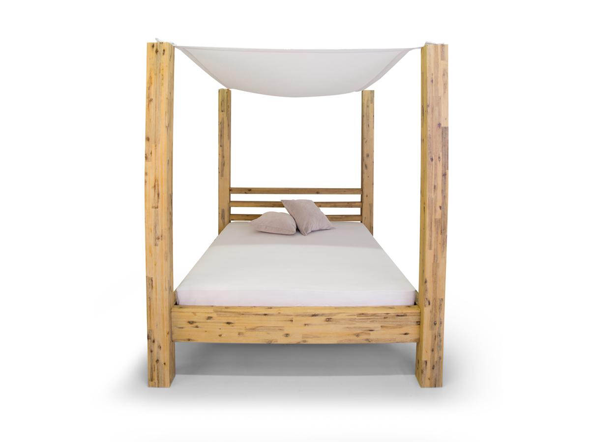 cosy himmelbett akazie brushed massivholz 180 x 200 cm. Black Bedroom Furniture Sets. Home Design Ideas