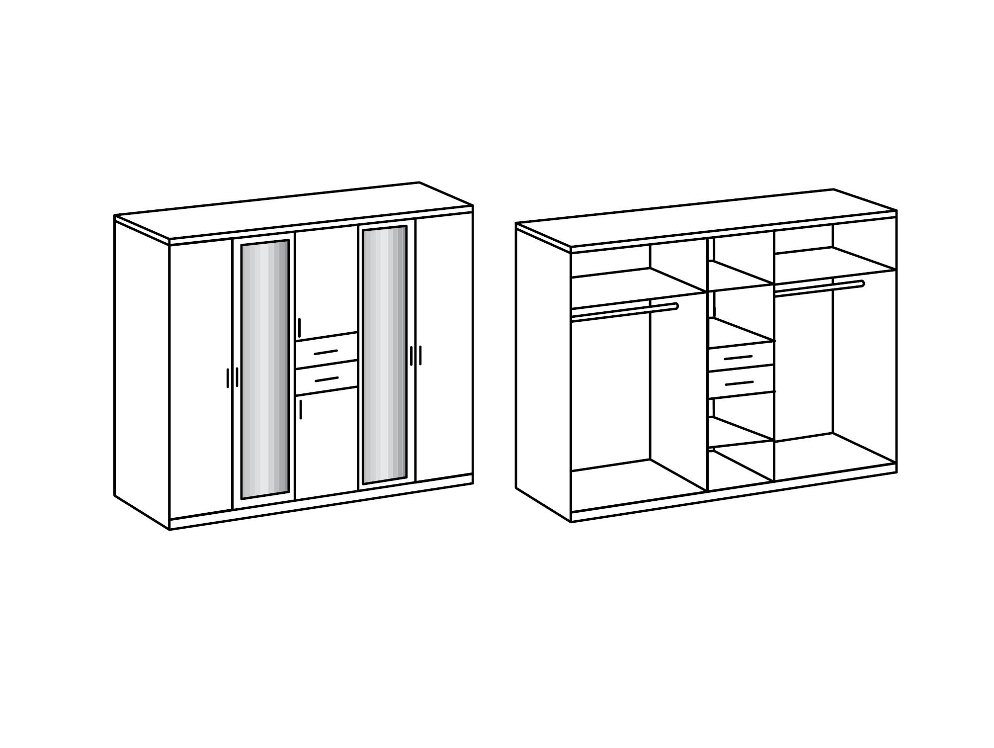 kleiderschrank mit viel stauraum alter kleiderschrank 3 t rig mit viel stauraum schubladen. Black Bedroom Furniture Sets. Home Design Ideas