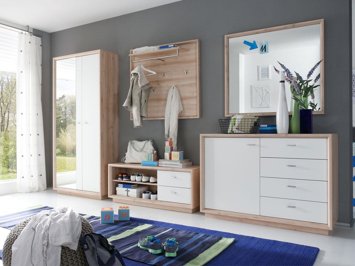 Seven spiegel edelbuche for Garderobe komplett programme