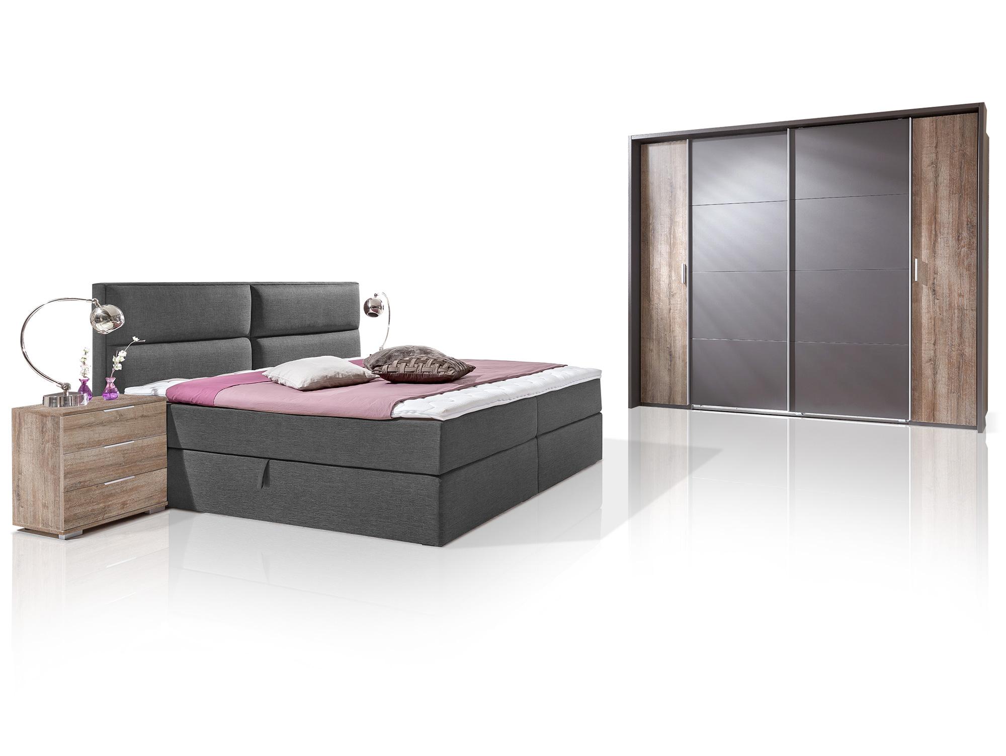 komplett schlafzimmer miami ohne spiegelt ren. Black Bedroom Furniture Sets. Home Design Ideas