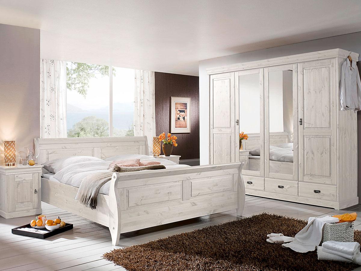 Superb Weise Schlafzimmer Holz #14: RICHARD II Massivholz Kleiderschrank Kiefer 4 Türig .