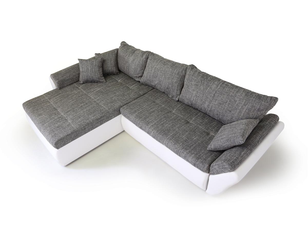 lacie ecksofa eckcouch weiss hellgrau links. Black Bedroom Furniture Sets. Home Design Ideas