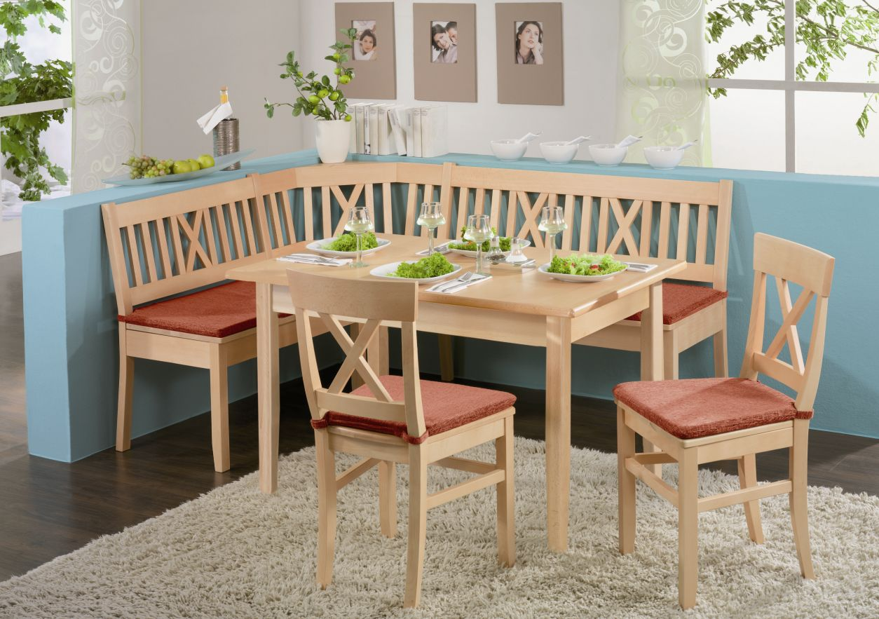 LUDWIG Esstisch Tisch, Material Massivholz, Buche lackiert