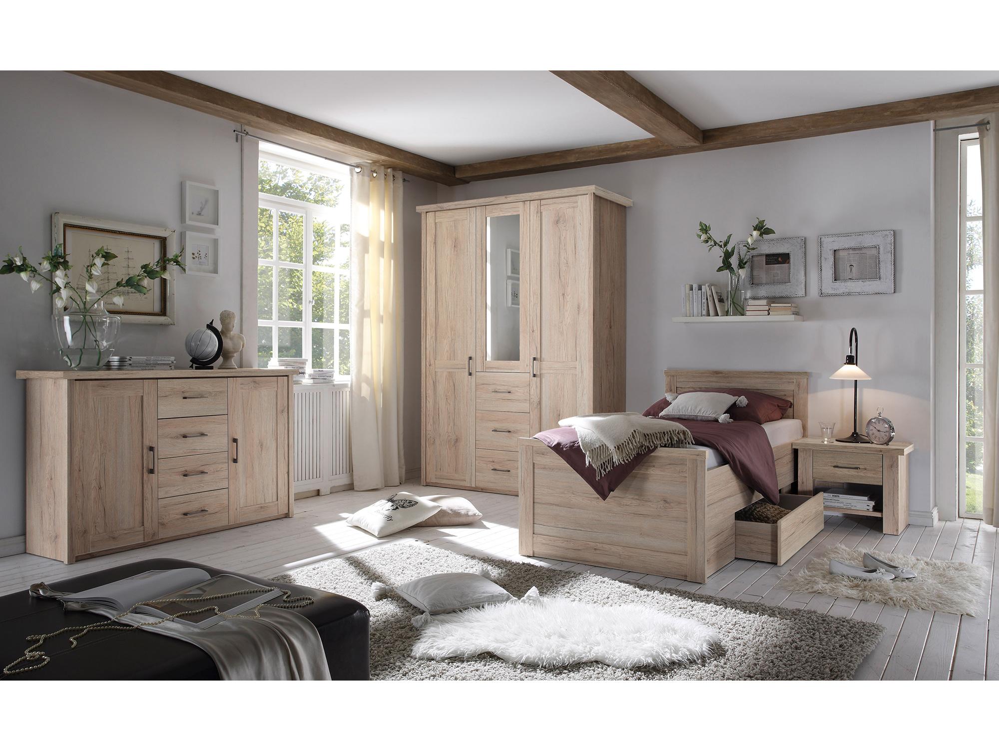 l ttich komplett schlafzimmer eiche san remo hell dekor. Black Bedroom Furniture Sets. Home Design Ideas
