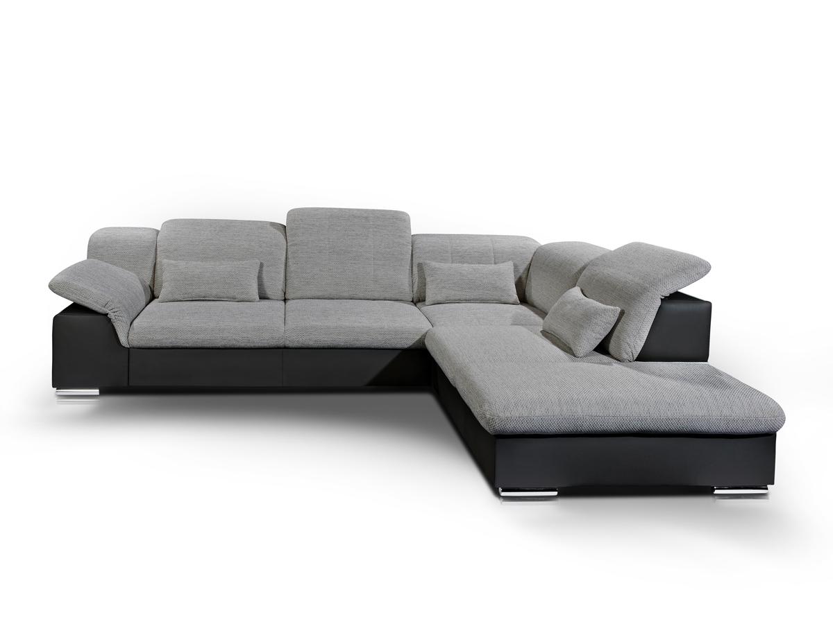 maarten ecksofa eckcouch schwarz grau rechts. Black Bedroom Furniture Sets. Home Design Ideas