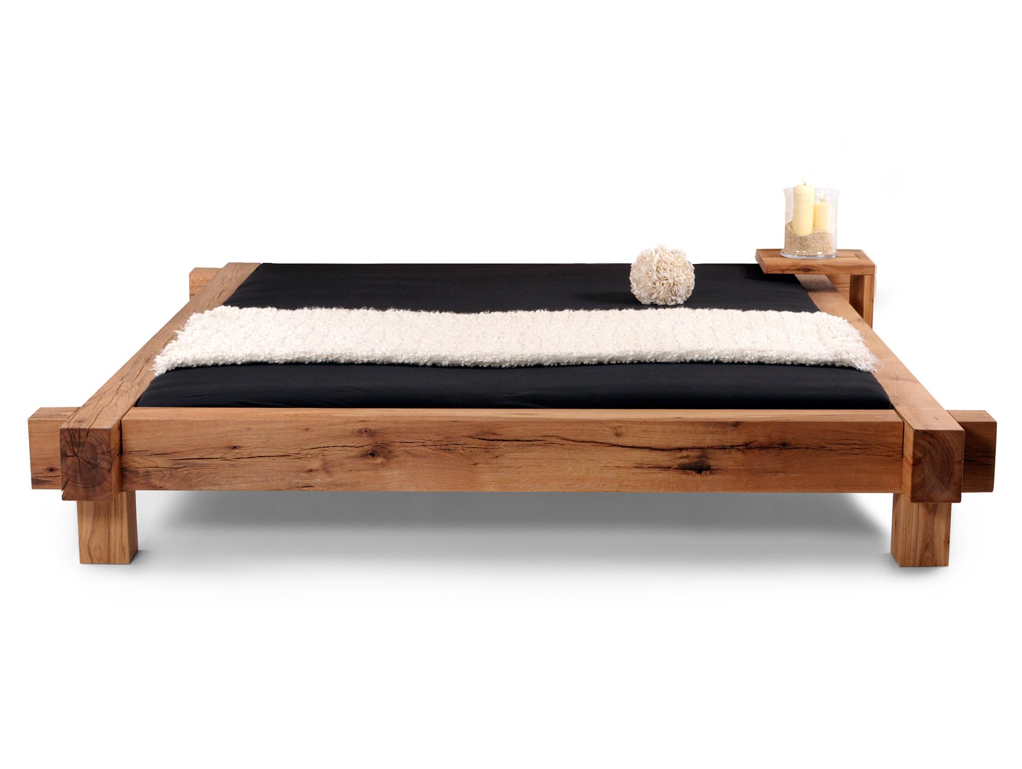 maito doppelbett massivholzbett sumpfeiche ge lt 160 x 220 cm unbehandelt ohne kopfteil. Black Bedroom Furniture Sets. Home Design Ideas