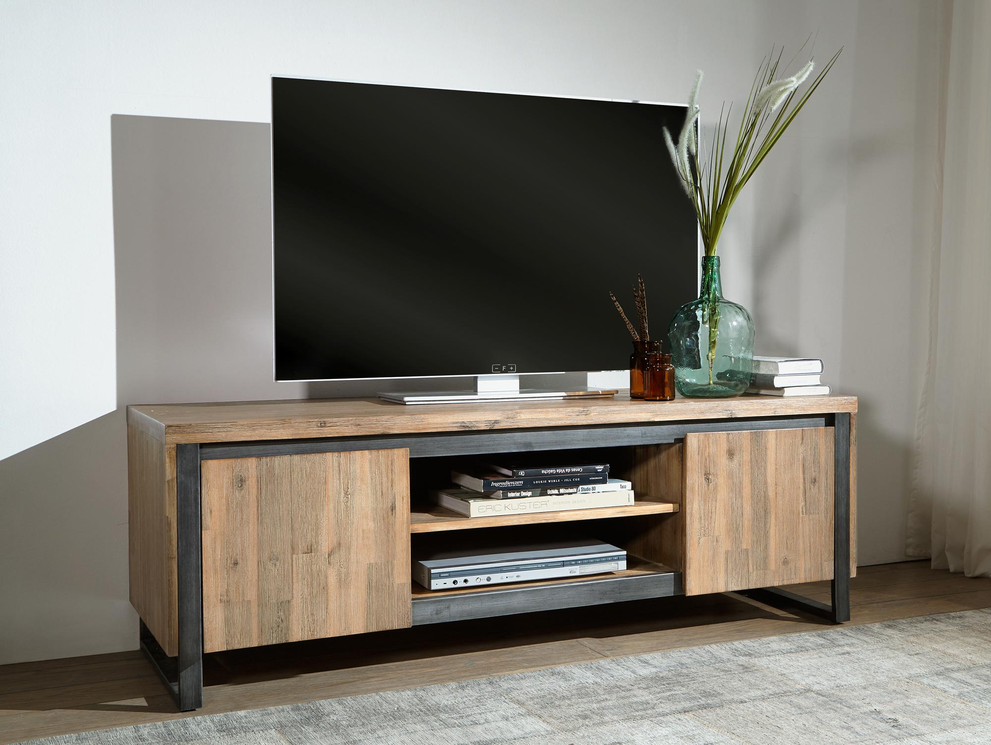 akazie geburstet malaga tv lowboard i material massivholz akazie geburstet