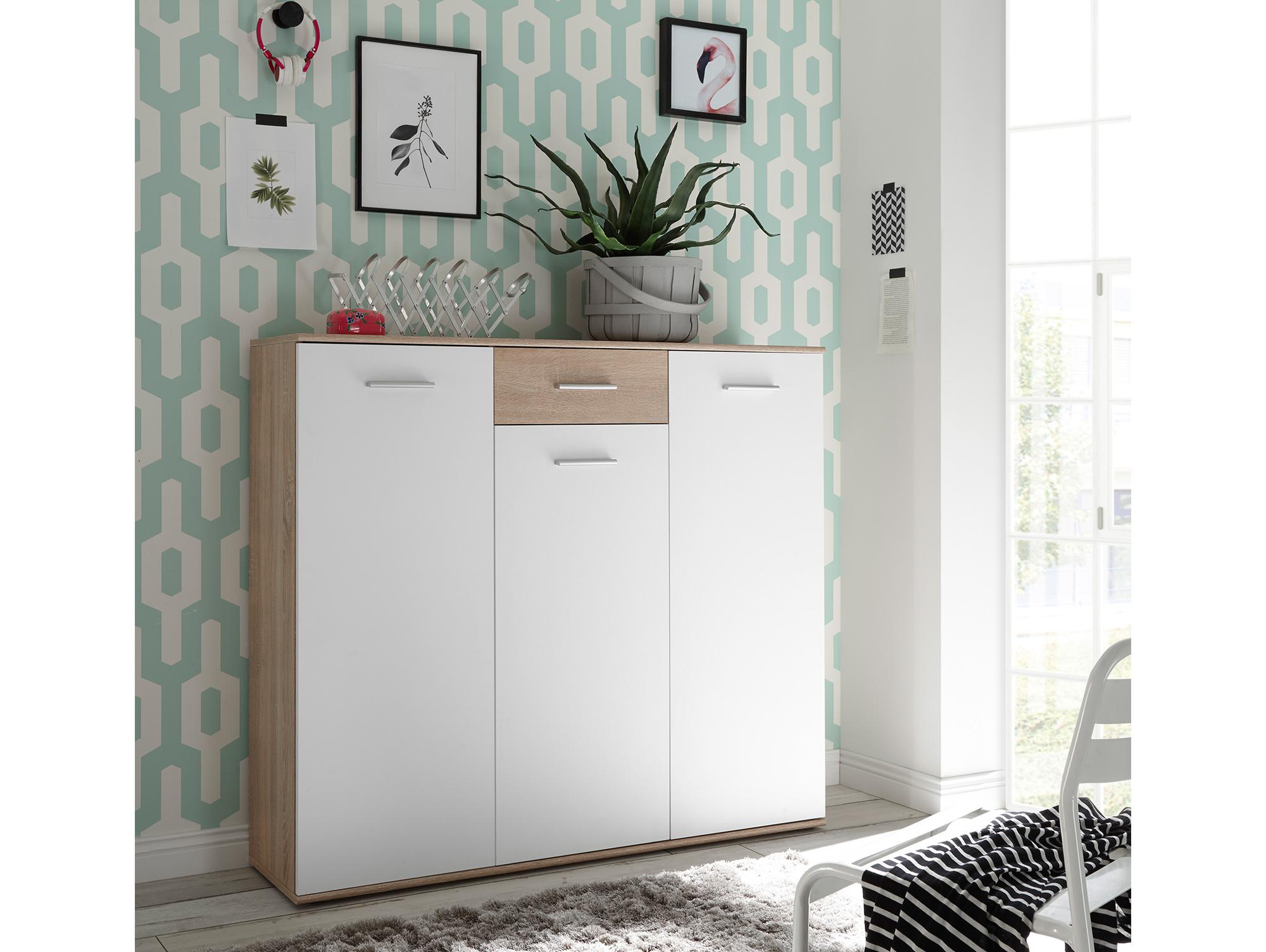 manalo schuhschrank iii mit 3 t ren 1 sk sonoma. Black Bedroom Furniture Sets. Home Design Ideas