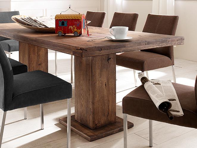 malik massivholz s ulentisch eiche 180x90 cm bassano. Black Bedroom Furniture Sets. Home Design Ideas