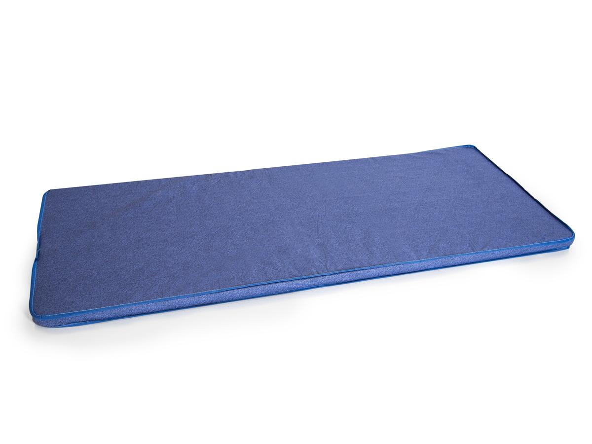 matratze f r g stebett 77x190 cm h he 5 cm bezugsstoff blau. Black Bedroom Furniture Sets. Home Design Ideas