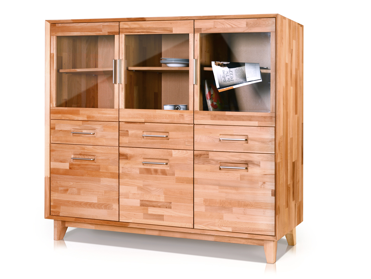 nepal highboard massivholz ge lt kernbuche. Black Bedroom Furniture Sets. Home Design Ideas