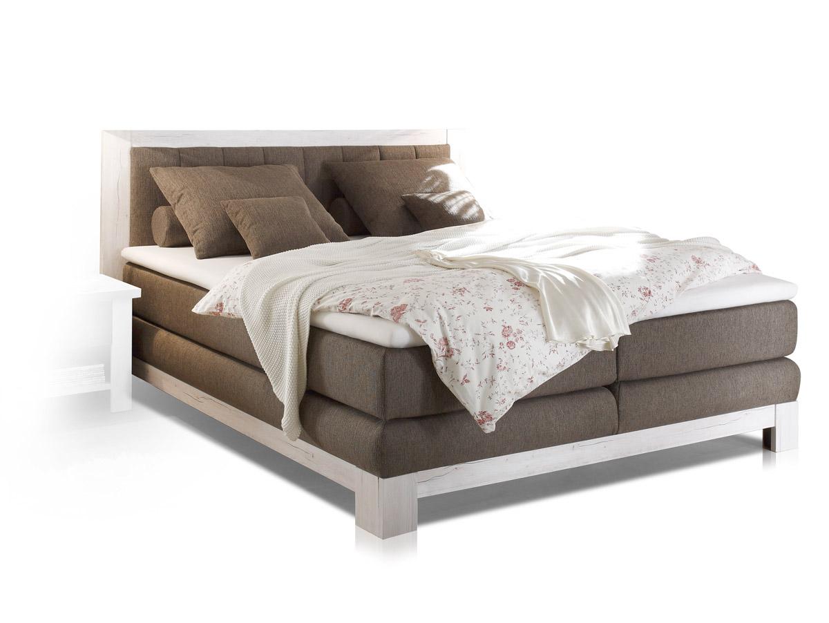 noah i boxspringbett 180x200 cm pinie wei braun. Black Bedroom Furniture Sets. Home Design Ideas