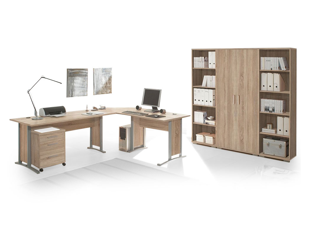 office line heimb ro 7 tlg eiche sonoma dekor. Black Bedroom Furniture Sets. Home Design Ideas