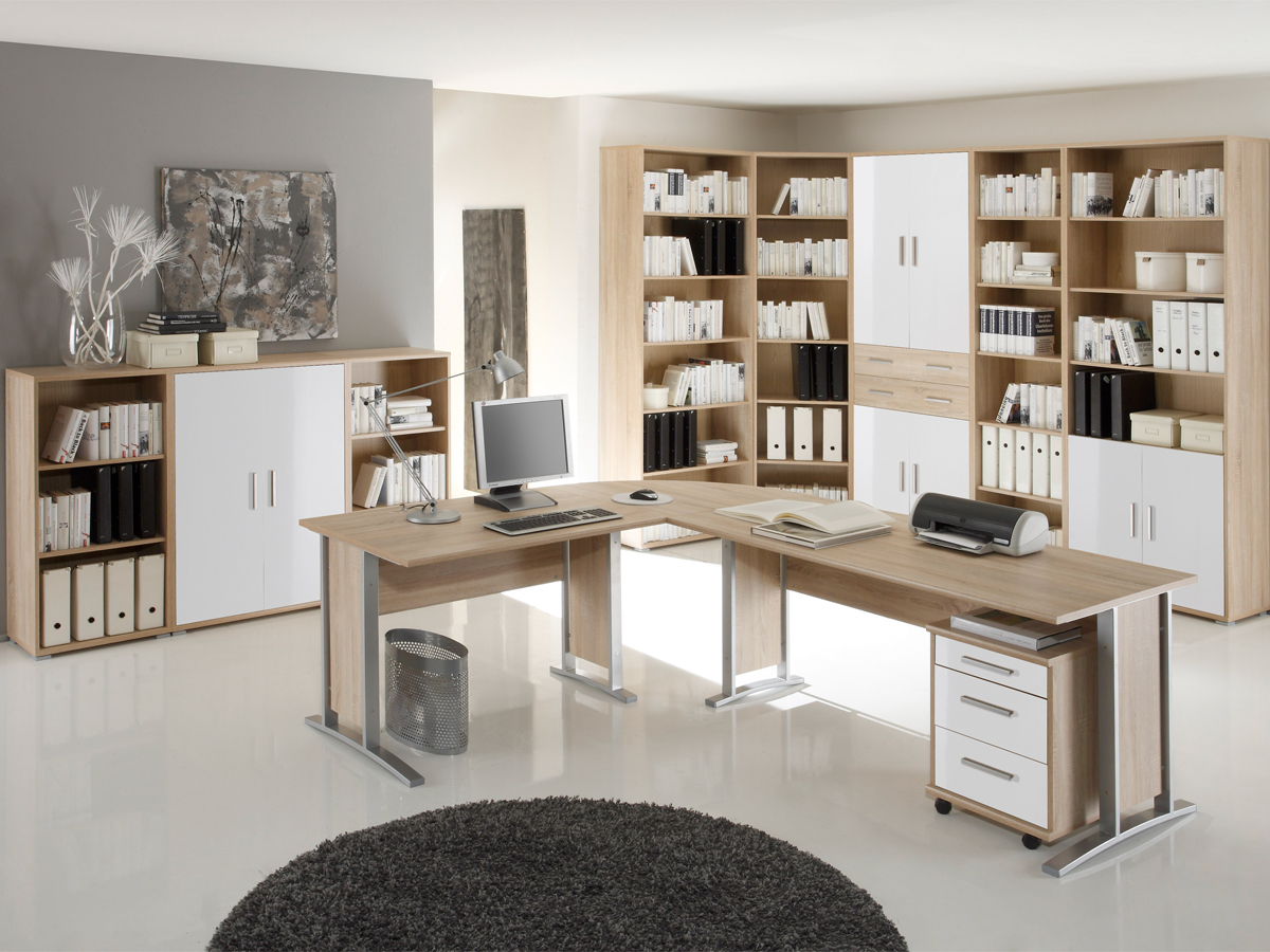 Office Line Schrank 4 Türen 2 Schubkästen Material