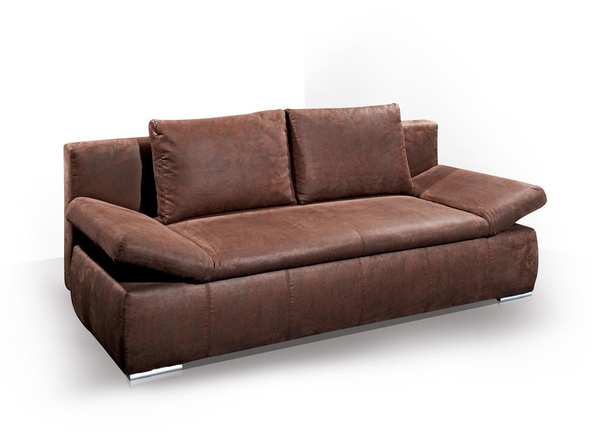 oran schlafsofa jugendsofa sofa braun. Black Bedroom Furniture Sets. Home Design Ideas