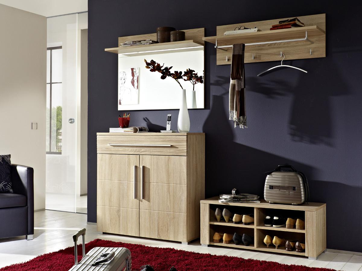 punkt schuhschrank sonoma eiche hell. Black Bedroom Furniture Sets. Home Design Ideas