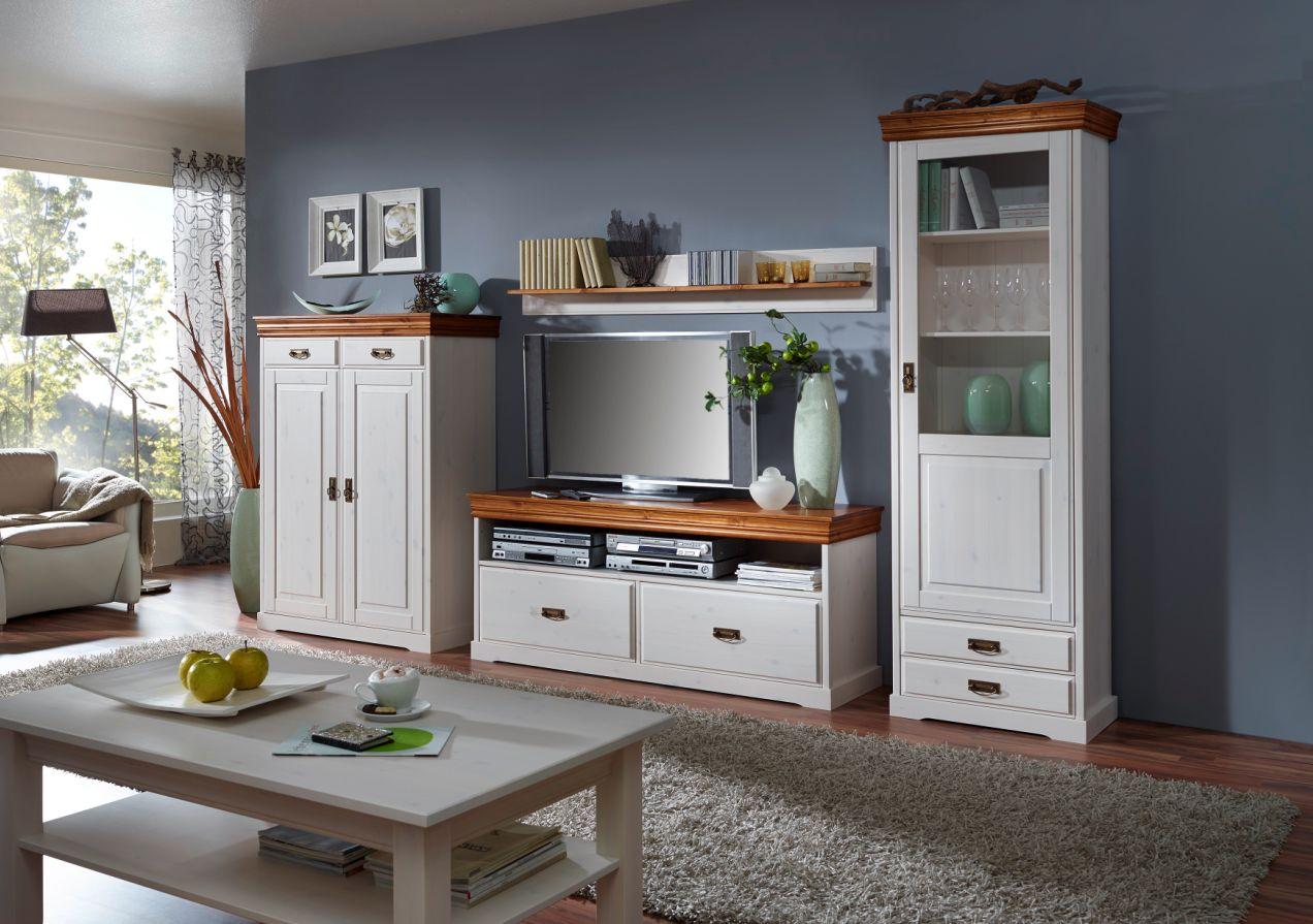 ralf tv element i kiefer wei gewachst honig lack. Black Bedroom Furniture Sets. Home Design Ideas