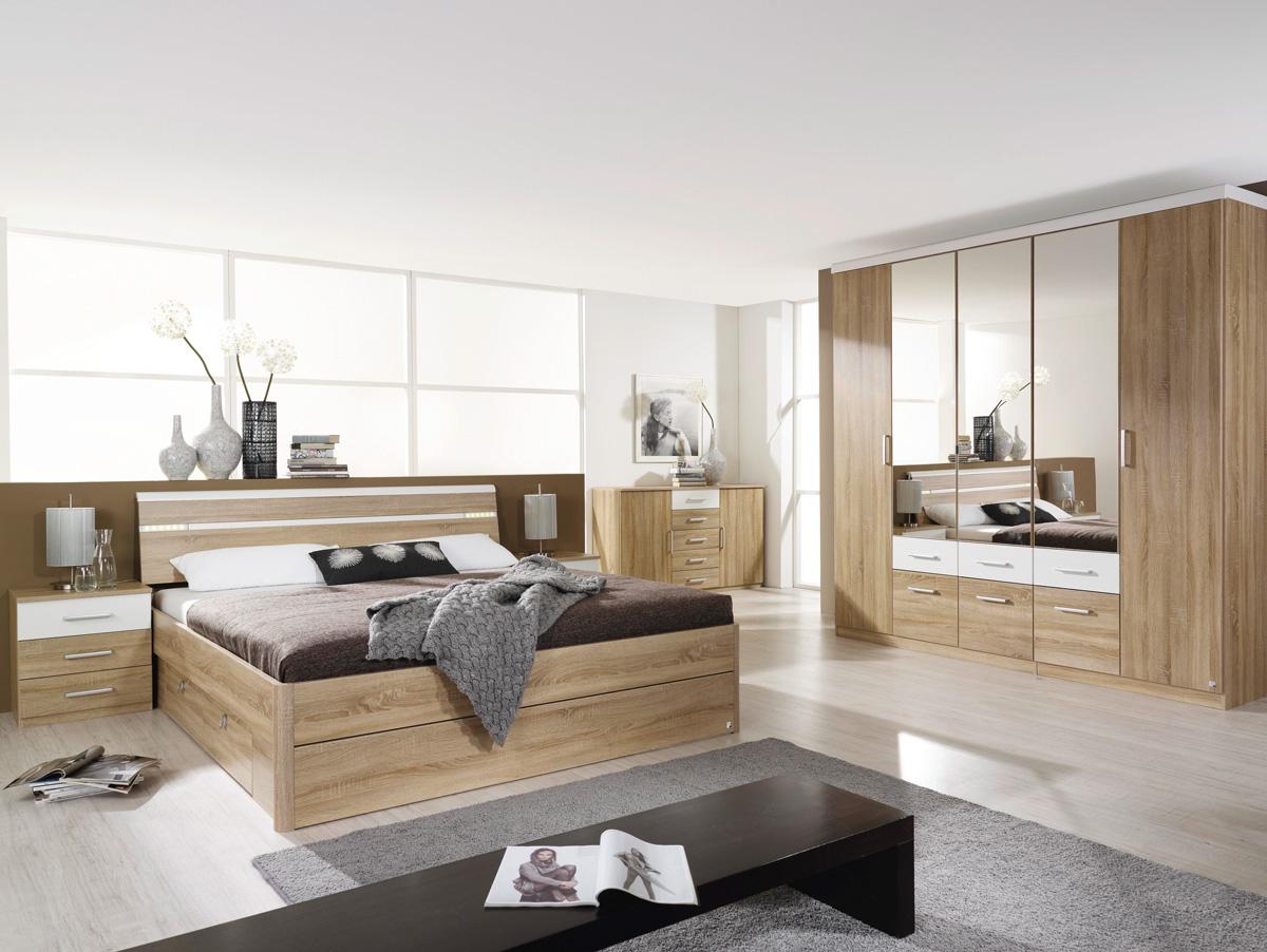 rami kompaktbett futonbett in 4 gr en 100x200 cm eiche sonoma alpinwei ohne beleuchtung. Black Bedroom Furniture Sets. Home Design Ideas