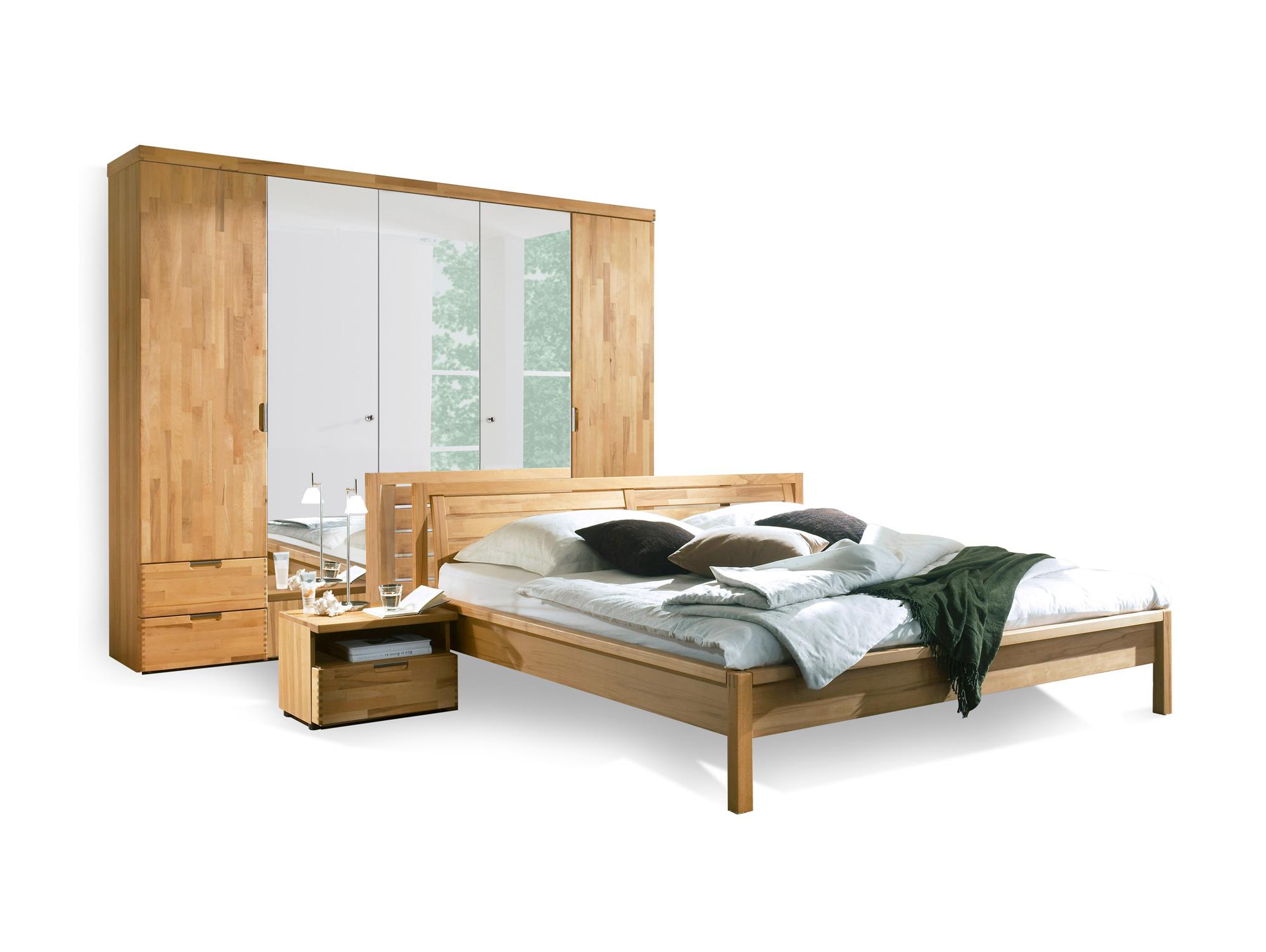 ramie komplett schlafzimmer kernbuche ge lt. Black Bedroom Furniture Sets. Home Design Ideas