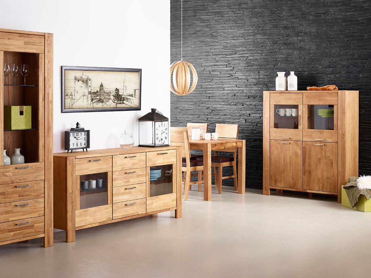 rusty highboard mit 2 2 t ren eiche ge lt. Black Bedroom Furniture Sets. Home Design Ideas