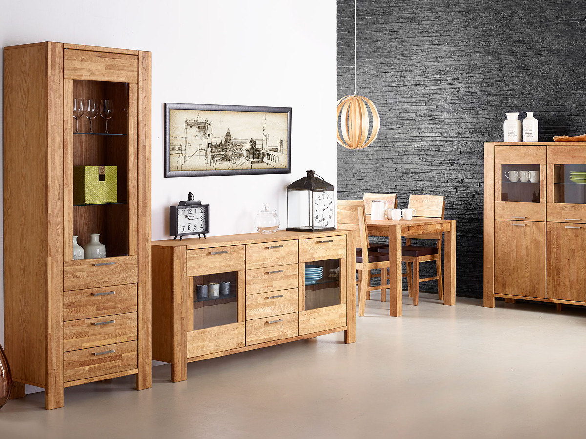 rusty vitrine mit 1 t r eiche ge lt. Black Bedroom Furniture Sets. Home Design Ideas