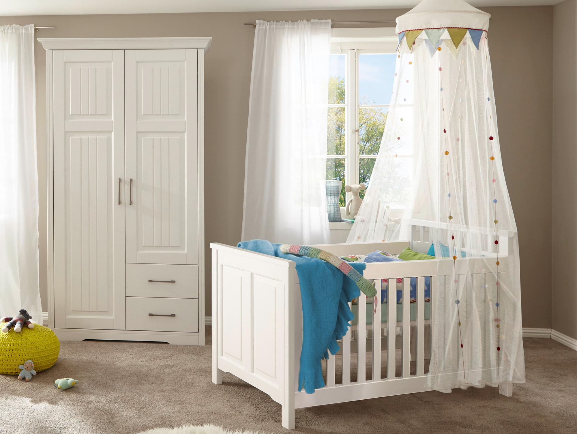 samira komplett babyzimmer kiefer weiss. Black Bedroom Furniture Sets. Home Design Ideas