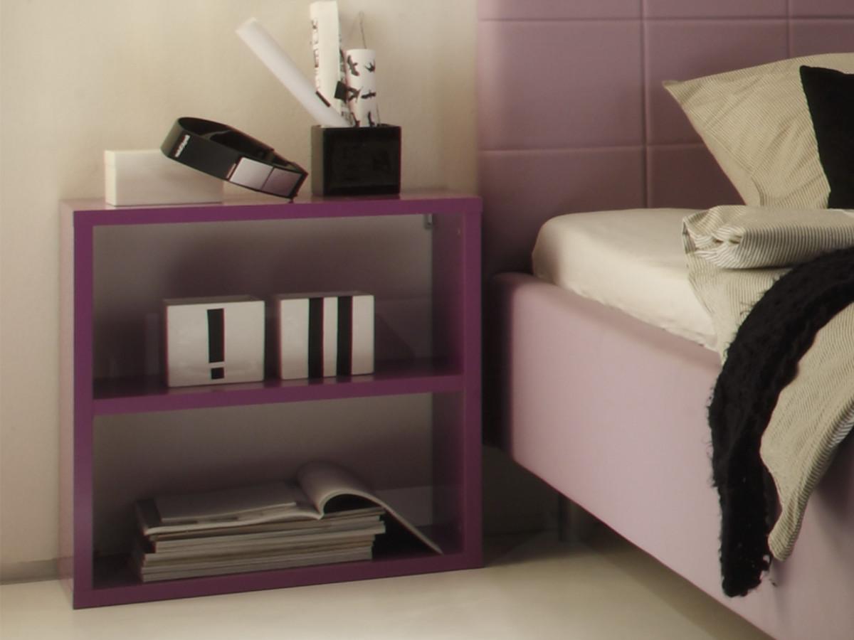 satina nachtkommode wandregal lila. Black Bedroom Furniture Sets. Home Design Ideas