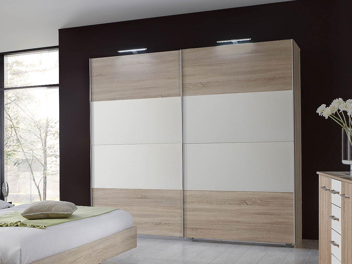 flores ii komplett schlafzimmer 180 x 200 cm eiche s gerau weiss. Black Bedroom Furniture Sets. Home Design Ideas