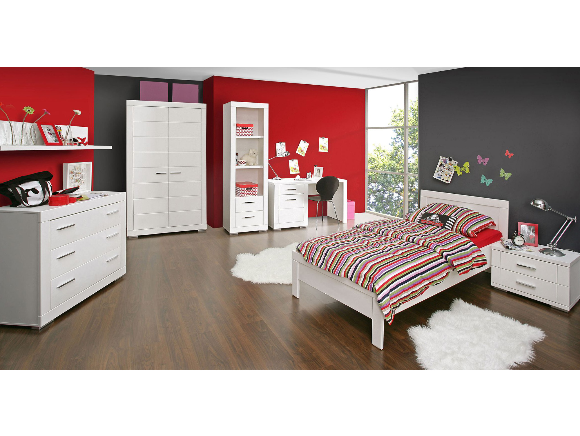 snowy kleiderschrank weiss 2 t rig. Black Bedroom Furniture Sets. Home Design Ideas