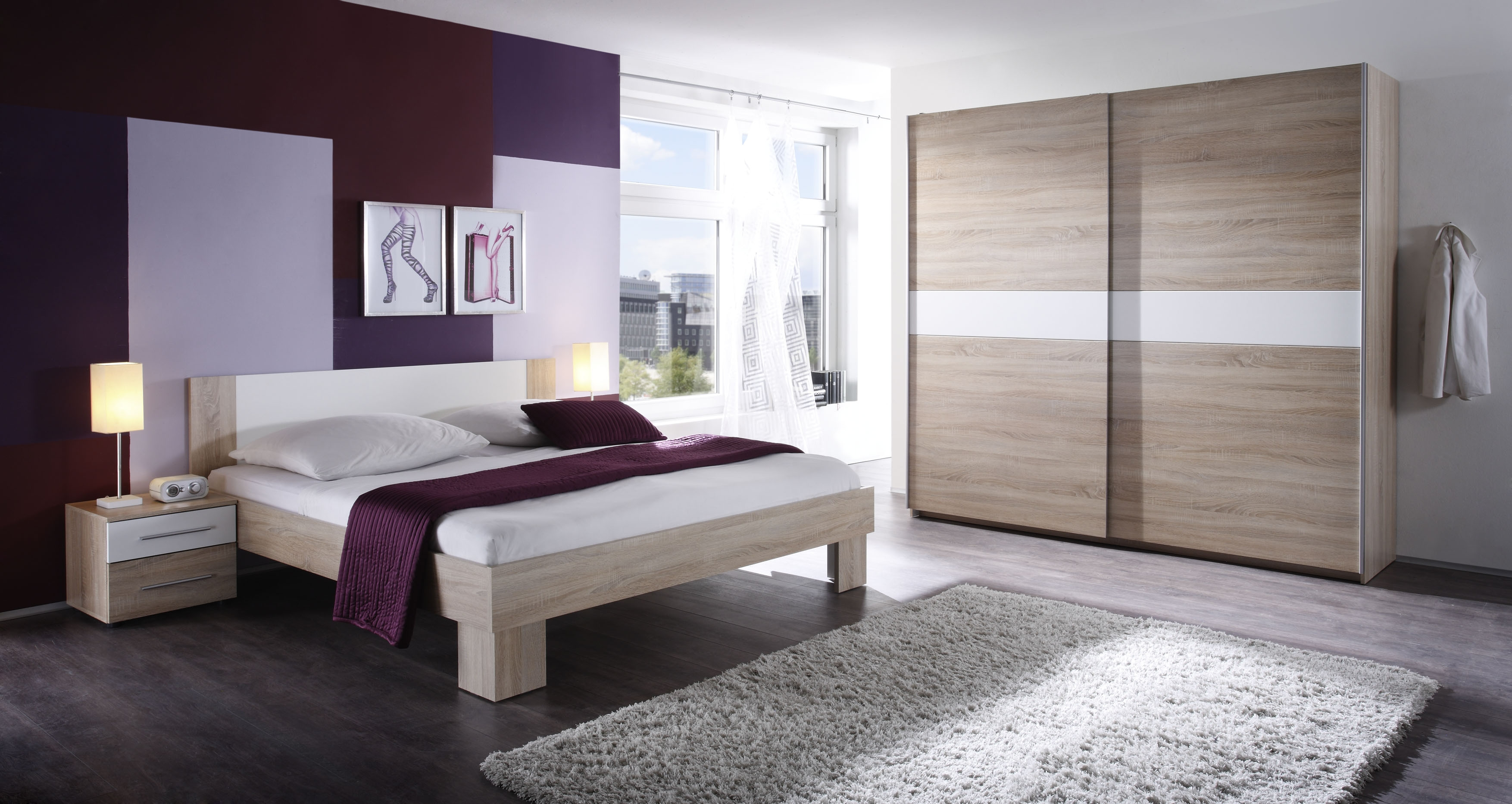welche wandfarbe zu sonoma eiche mobel. Black Bedroom Furniture Sets. Home Design Ideas