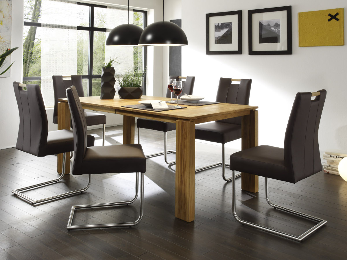 spider freischwinger esszimmerstuhl kunstleder braun. Black Bedroom Furniture Sets. Home Design Ideas