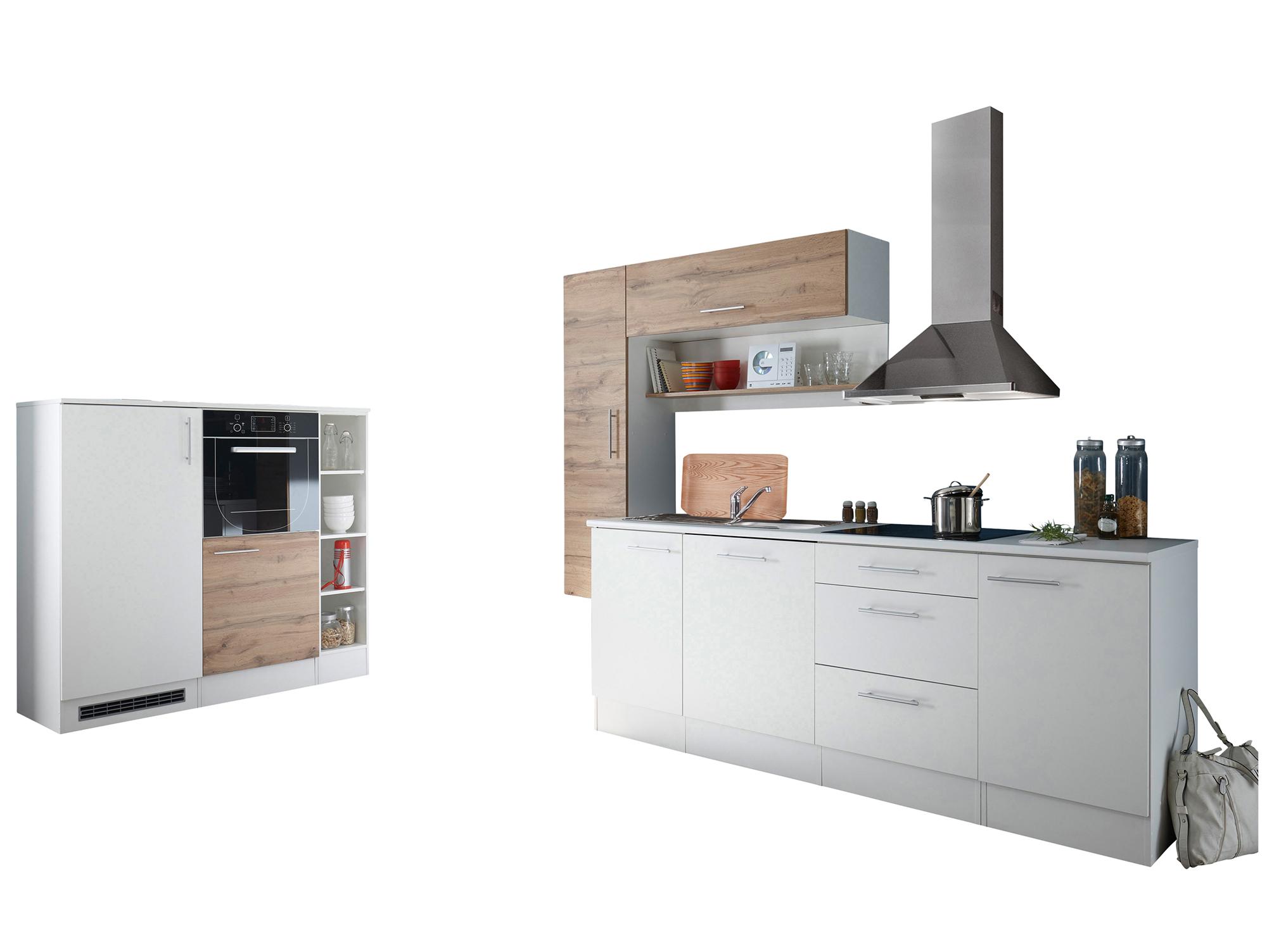 tony k che mit ger teblock dekor wei wildeiche. Black Bedroom Furniture Sets. Home Design Ideas